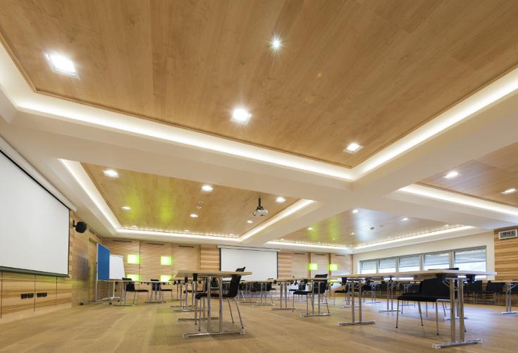 Soffitti In Legno Design : Acoustic ceilings controsoffitto acustico in legno